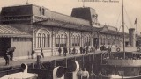 La première gare de Cherbourg, qui accueillait les locaux de la White Star Line et autres compagnies maritimes