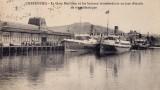 La première gare maritime de Cherbourg, qui vit au loin dans la rade de Cherbourg, s'arrêter le Titanic