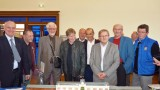 Les membres de l'Association Française du Titanic et le Président de La Cité de la Mer : Bernard Cauvin, lors de la signature du partenariat en avril 2011