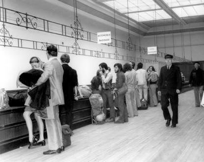 La Salle des Bagages, où les voyageurs déposaient et récupéraient leurs valises