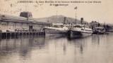 Transbordeurs devant la gare maritime de 1912 à Cherbourg