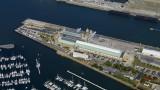 Vue aérienne de la Gare Maritime Transatlantique et La Cité de la Mer