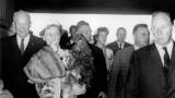 Le président des Etats-Unis Dwight David Eisenhower dans la gare maritime transatlantique