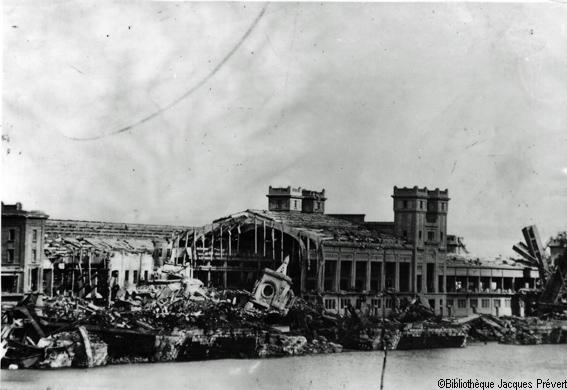 Maritime transatlantique détruite pendant la seconde guerre mondiale