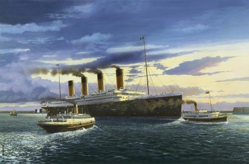 Titanic en rade de Cherbourg ©Jacques Mignon