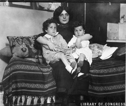 Michel and Edmond with their mother