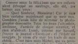 Extrait du journal « Réveil » du 15 mai 1912