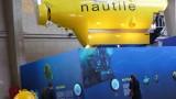 Une maquette (échelle 1) du sous marin Nautile est exposée dans la Nef d'Accueil.