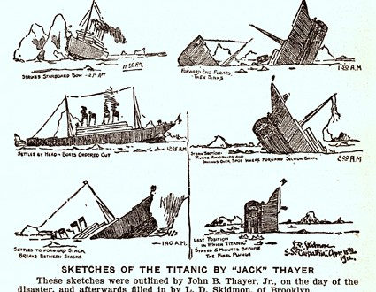 Illustration du naufrage du Titanic