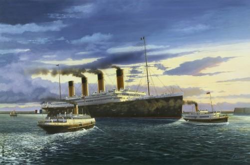 TITANIC en rade de Cherbourg